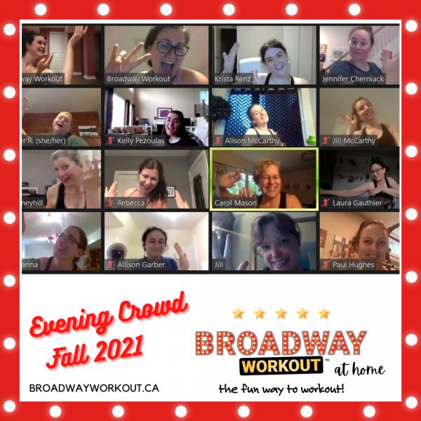 Broadway Workout Evening Crowd